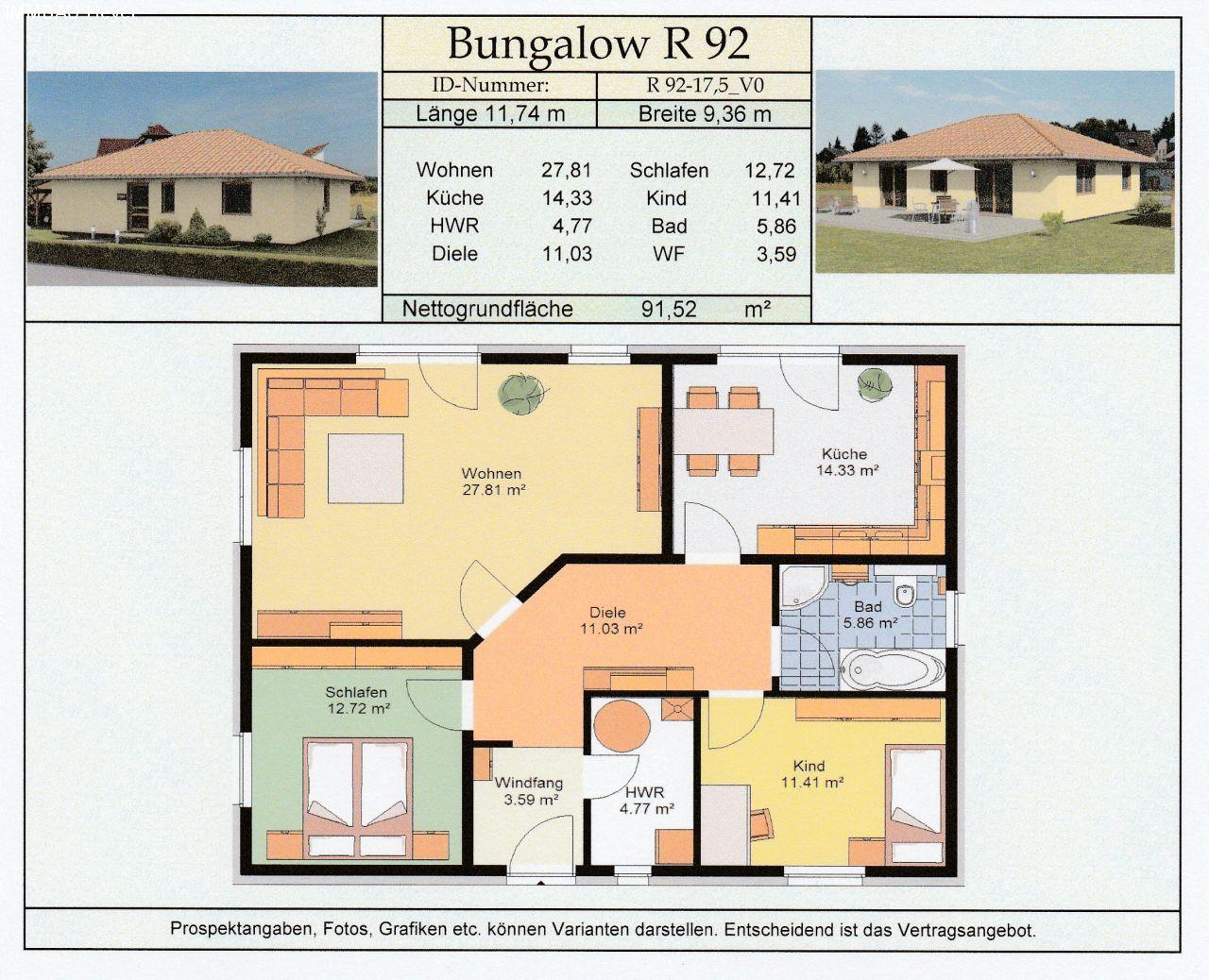 preiswert bauen 24 programm ludwigsfelde bungalow r 92. Black Bedroom Furniture Sets. Home Design Ideas